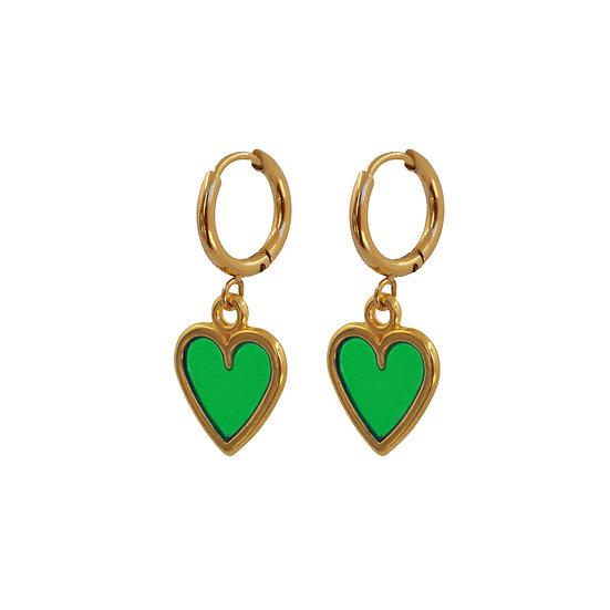 Pendientes Green Love