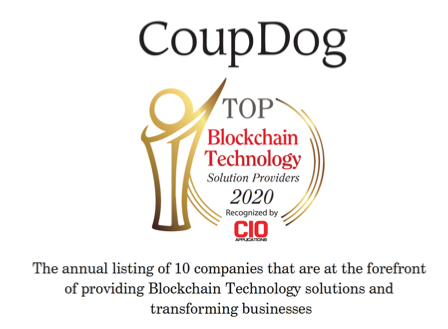 CIO Applications magazine  recognizes CoupDog as top blockchain company