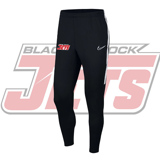 BLACK ROCK JETS NIKE ACADEMY PANTS - YOUTH - BLACK