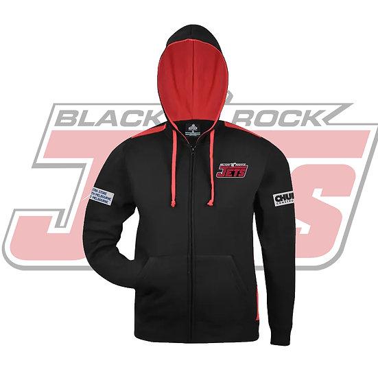 BLACK ROCK JETS  HOODIE - BLACK