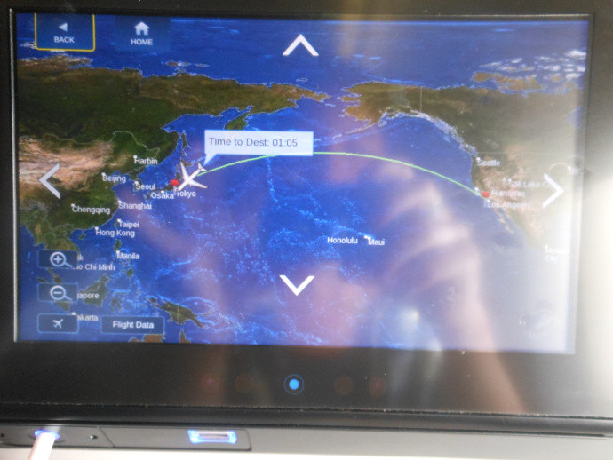 flight path map between LAX and NRT