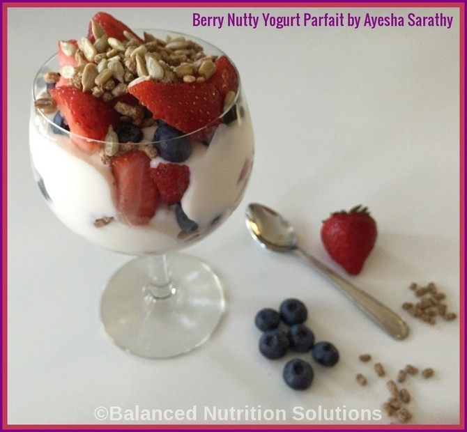 Berry Nutty Yogurt Parfait