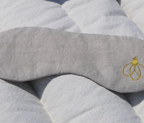 Masque yeux de voyage BIO, en coton naturel, RBVOY-01