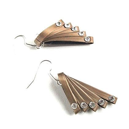 Boucles d'oreilles rubans de marqueterie de paille