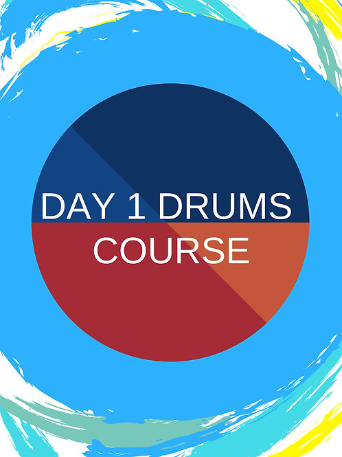 Day 1 Interactive Beginner's Drums Book LITE - 12 month access