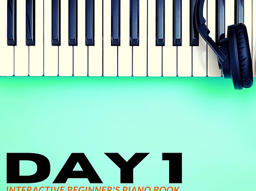 Day 1 Interactive Beginner's Piano Book - 12 month access