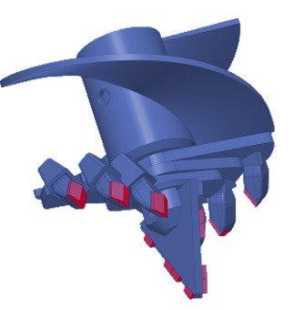 Бур лопастной БЛ-4С, D=550 мм