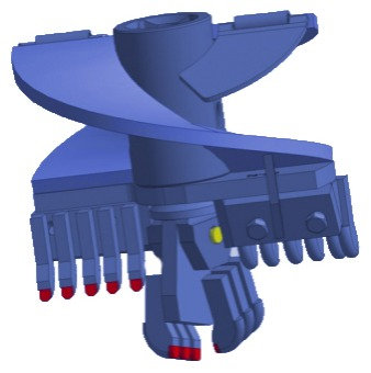 Бур лопастной БЛ-4И, D=250 мм