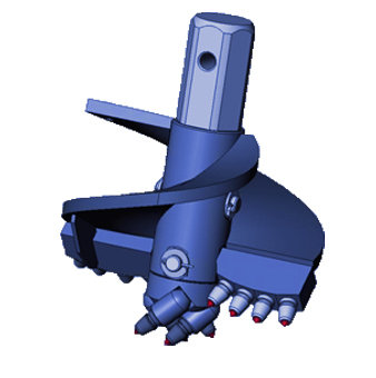 Бур лопастной БЛ-7Т, D=300 мм