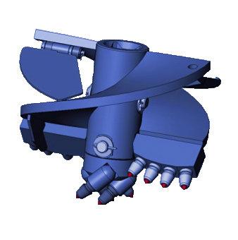 Бур лопастной БЛ-7ТИ, D=550 мм