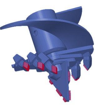 Бур лопастной БЛ-4С, D=650 мм