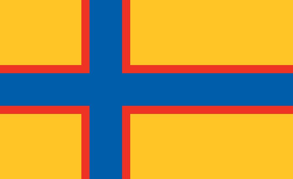 Флаг Ингерманландии - традиционный скандинавский крест