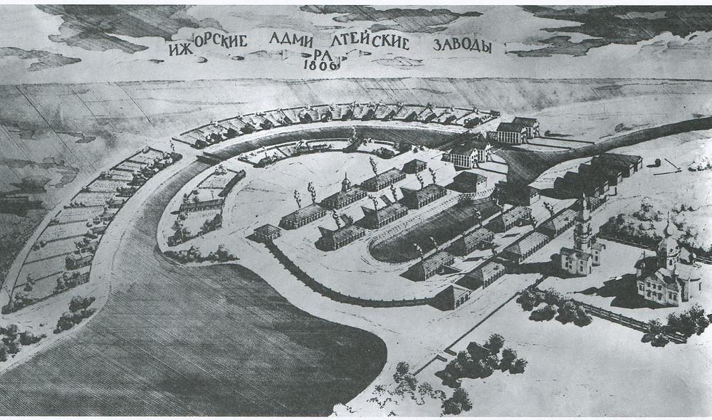 Ижорские заводы в Колпино, 1806 г.