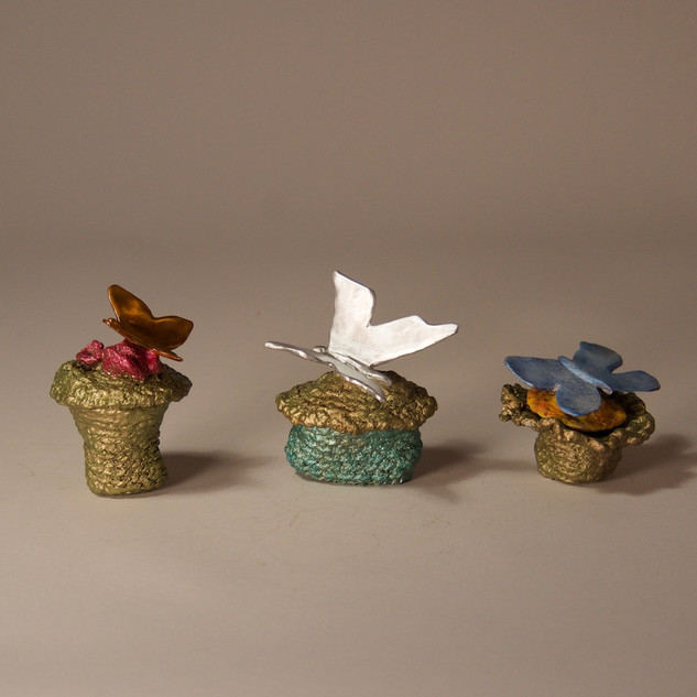 3 Boxes with Butterflies (Alternate View)