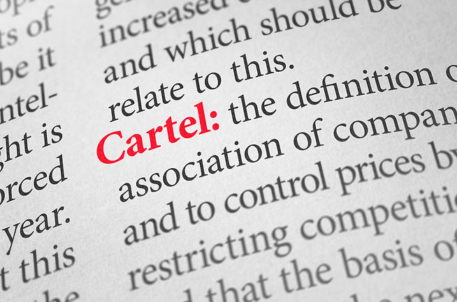 Definition of the word Cartel in a dicti