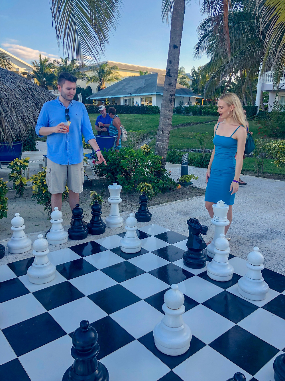 Playing Chess at the Grand Palladium Resort & Spa