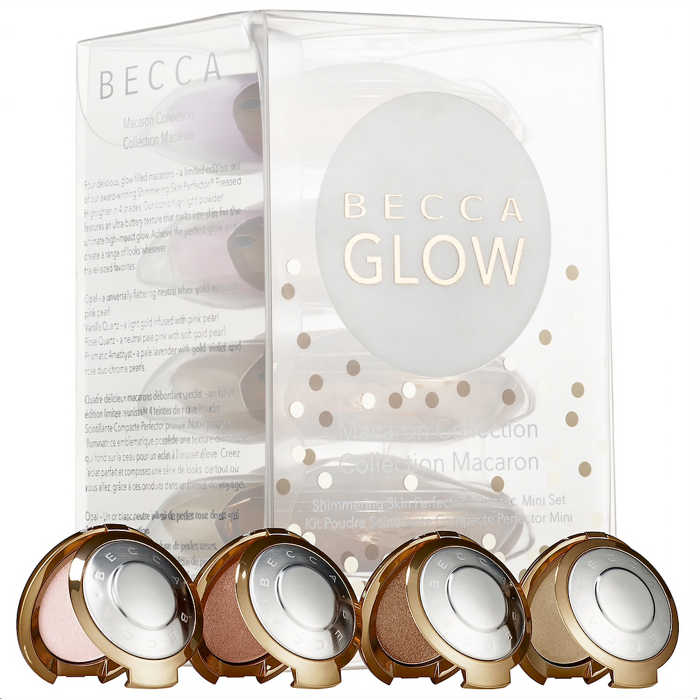 Shimmering Skin Perfector Pressed Highlighter Mini Macaron Set by Becca | Credit: www.sephora.com