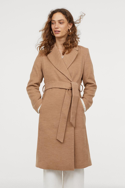 Coat with Tie Belt | Credit: www.hm.com