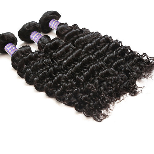 Brazilian Non Remy Hair Extensions Deep WaveHair Weave Virgin Hair Extensions