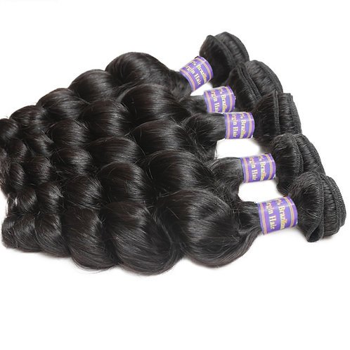 Brazilian Non Remy Hair Extensions Loose Wave Hair Weave Virgin Hair Extensions