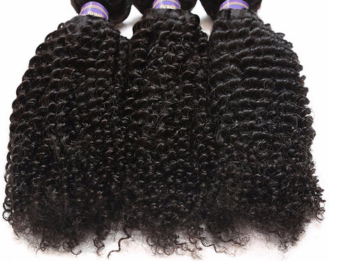 Brazilian Non Remy Hair Extensions Kinky Curly Hair Weave Virgin Hair Extensions