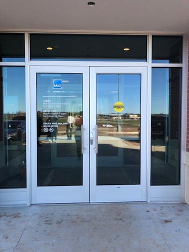 Bank Glass Door Cleaning