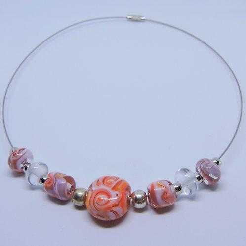 Halskette Peach