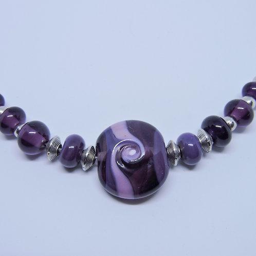 Halskette Lavendel