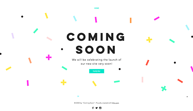 Coming Soon website templates – Celebration Coming Soon