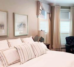 Custom bedding and drapery
