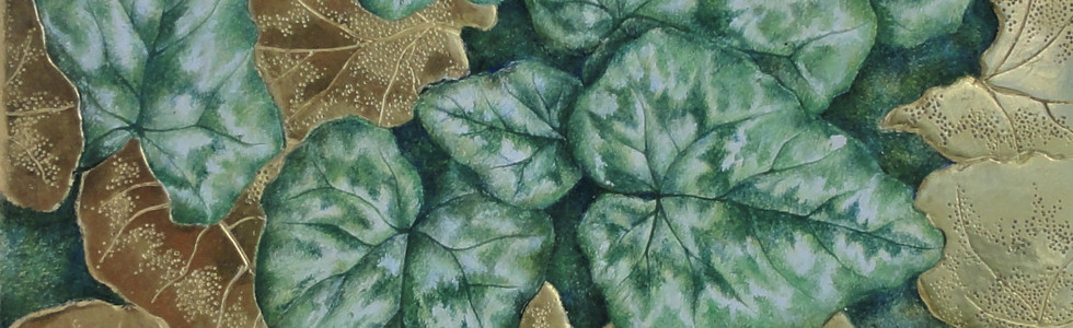 Cyclamen Leaves 15cm x 15cm
