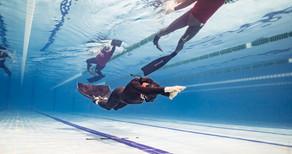Фото с соревнований в этом бассейне