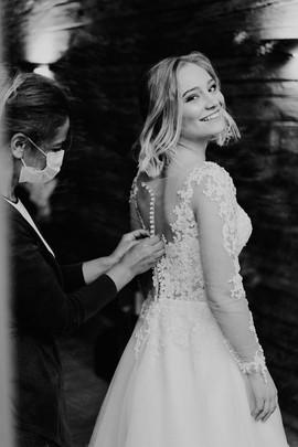 Getting Ready Braut