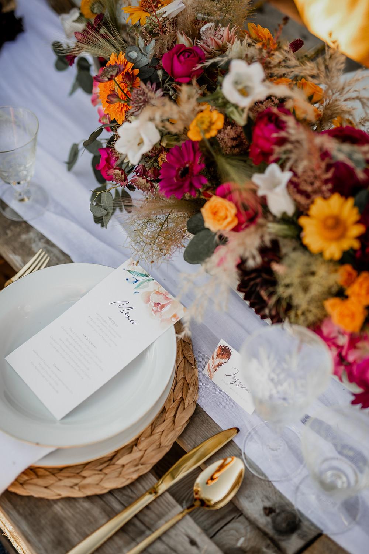Dekorationskonzept Hochzeit, Roter Faden Hochzeit, Hochzeitsdeko