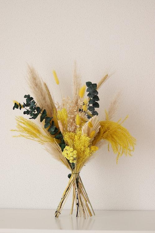 Trockenblumenstrauß BEIGE/GELB/GRÜN