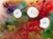 Mixed media art of Autumn Hedgerow