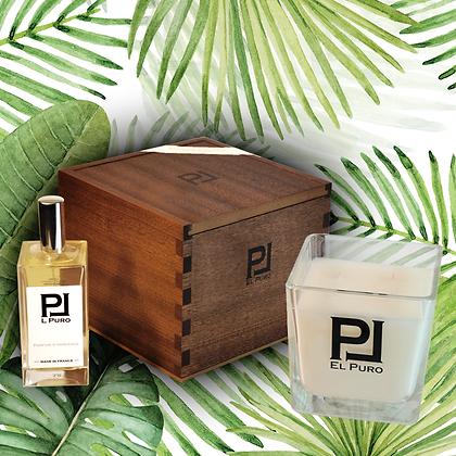 Coffret bougie  + recharge + parfum au choix