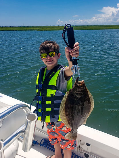 Kids fishing charter Hit the Surf Charters Stone Harbor, Avalon, Sea Isle City, Wildwood, Cape May