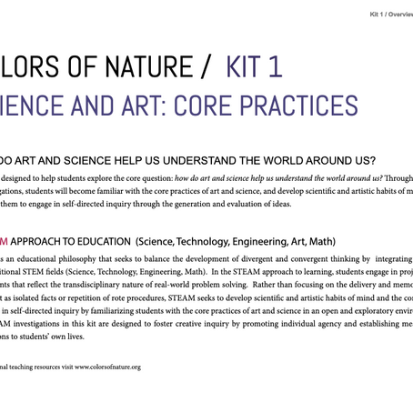 Free Downloadable Science and Art Kits from Fostering STEAM