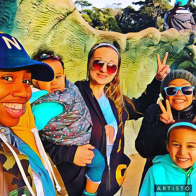Wavey crew _itshazeysantana _littlestmyra having a few laughs at Golden Gate Park Playground over Winter Break 🌊For more information about t