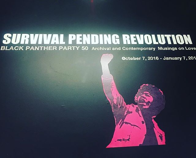 This exhibit at _omiarts was dope 'Survival Pending Revolution' ✊🏾 glad I got to go see it! #SurvivalPendingRevolution #OmiArts #ImpactHub #