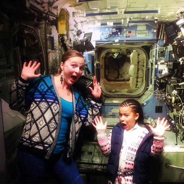 Falling through the atmosphere in our spaceship #Oakland #BayExplorers #ChabotSpaceAndScienceCenter #WhatToDoWithKids #PartOfTheUniverse #Ge