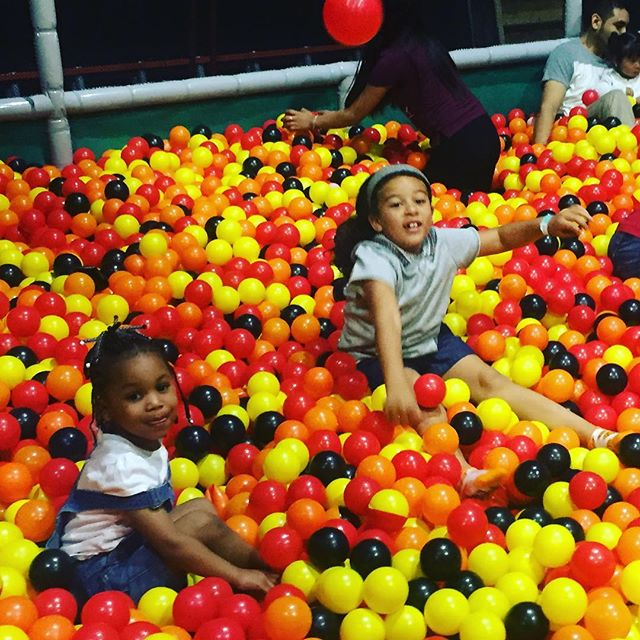Ball pit action- there's a blast from the past! You don't see ball pits much anymore but lost world has one! #LostWorld #Livermore #BayExplo