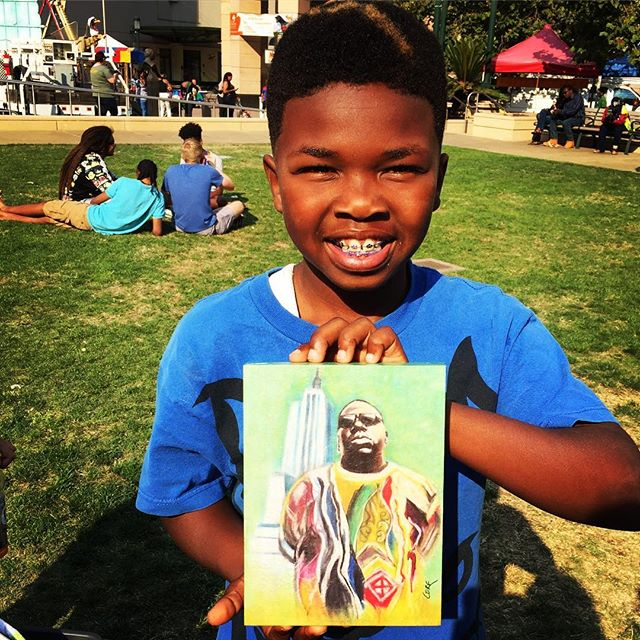 Even uncle Lonnie knows what's up! He grabbed a little art & soul from _thecorecreations from the Art & Soul Festival in Oakland two weeks a