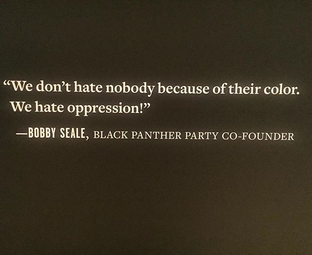 So simple! Went with the fam to go see the Black Panther Party exhibit at the Oakland Museum this past weekend- if you live in the Bay & hav