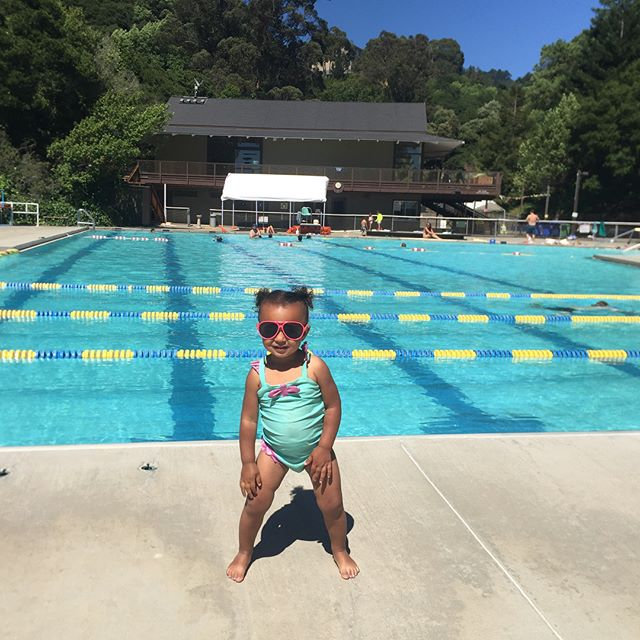 Last weekend we went swimming at Strawberry Canyon in Berkeley