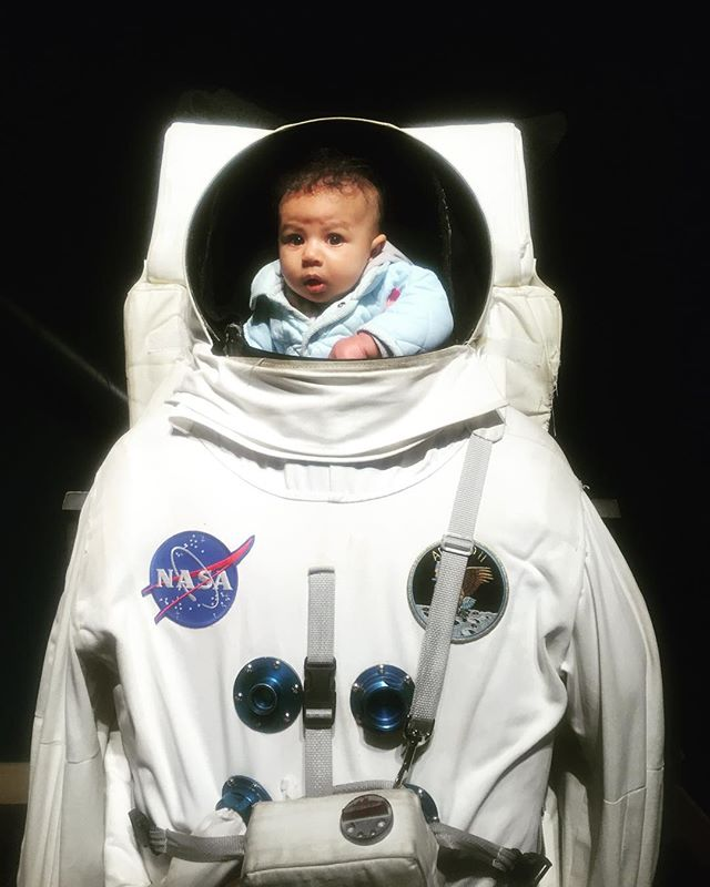 The youngest astronaut ever! #LostInSpace #ChabotSpaceAndScienceCenter #BayExplorers #WhatToDoWithKids #PartOfTheUniverse #TinyAstronaut