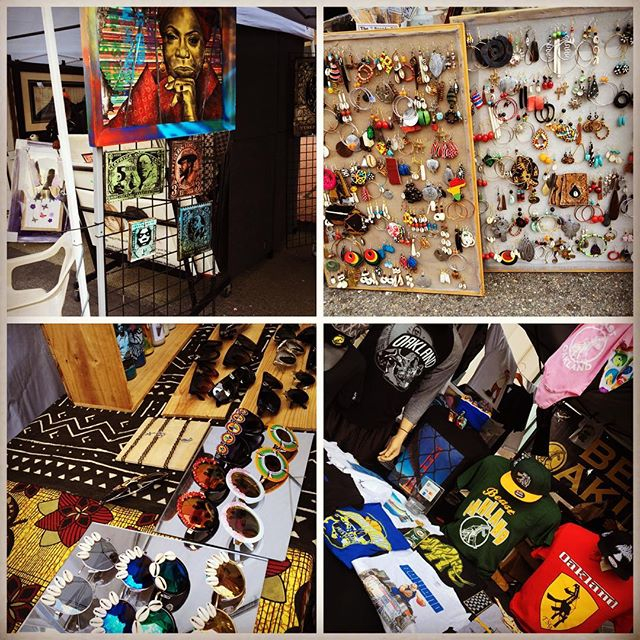 There were literally streets & streets of vendors selling their goods at the Art & Soul Festival in downtown Oakland #ArtAndSoulFestival #Oa