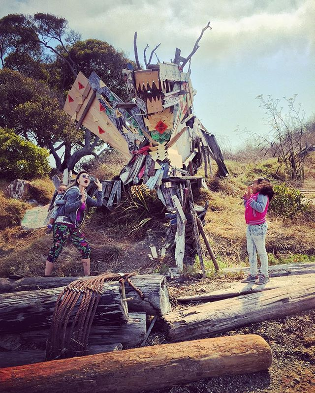 Giant trash dragon!!!! Aaaah🐲It's SepTENber! Next on my list of 10 Things to do for under $10 is go on a real exploration experience at the_