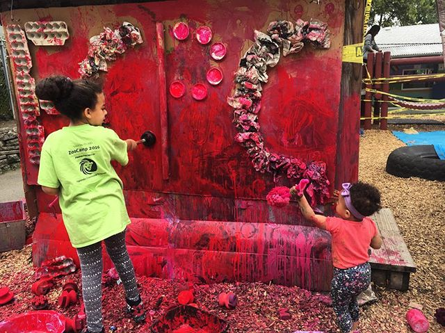 Messy art crew 👧🏽👶🏽One of our favorite days out of the year- Messy Art Day at El Cerrito Preschool